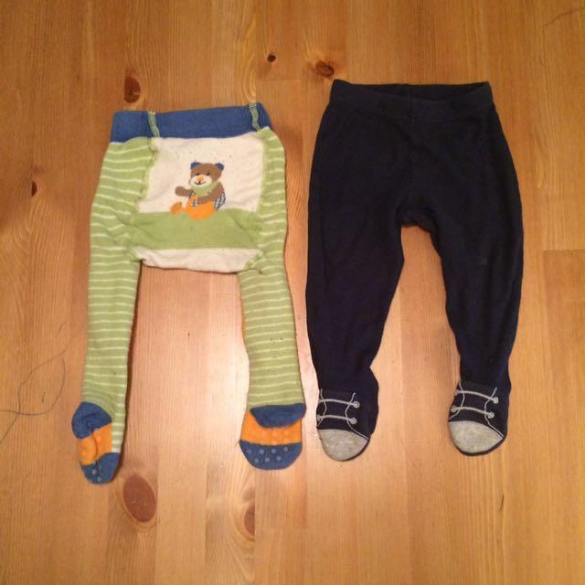 Babygap嬰兒居家睡褲衛生褲+外出護膝爬褲carter's包腳褲