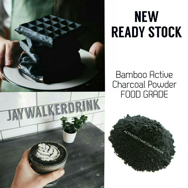 Bamboo Active Charcoal Arang Aktif Makanan Hitam Food Grade Kue - Cosmetik - Masker