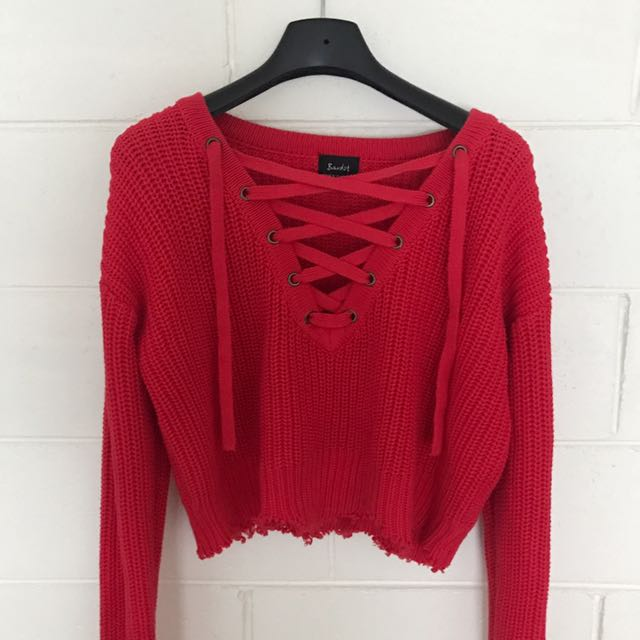Bardot Cropped Jumper