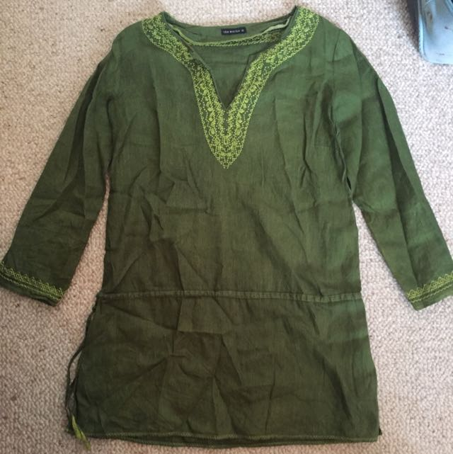 Beautiful Olive Green Tunic Top