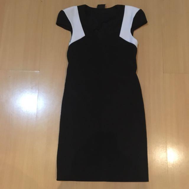 Body n Soul black n white dress
