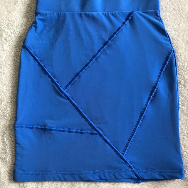 Brand New Blue supre Short Skirt Size small