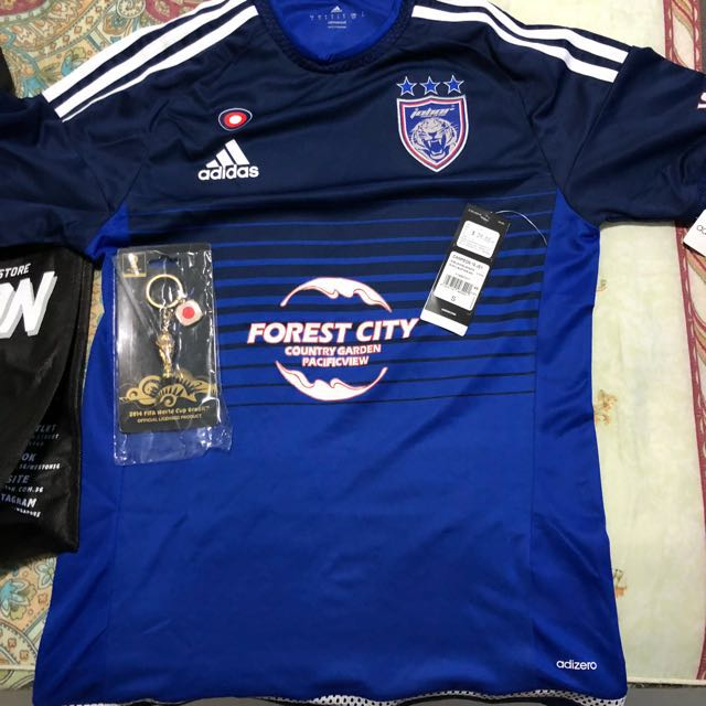 8fc395401 BRAND NEW WITH TAG JDT 2016 JERSEY BLUE, Sports, Sports Apparel on Carousell