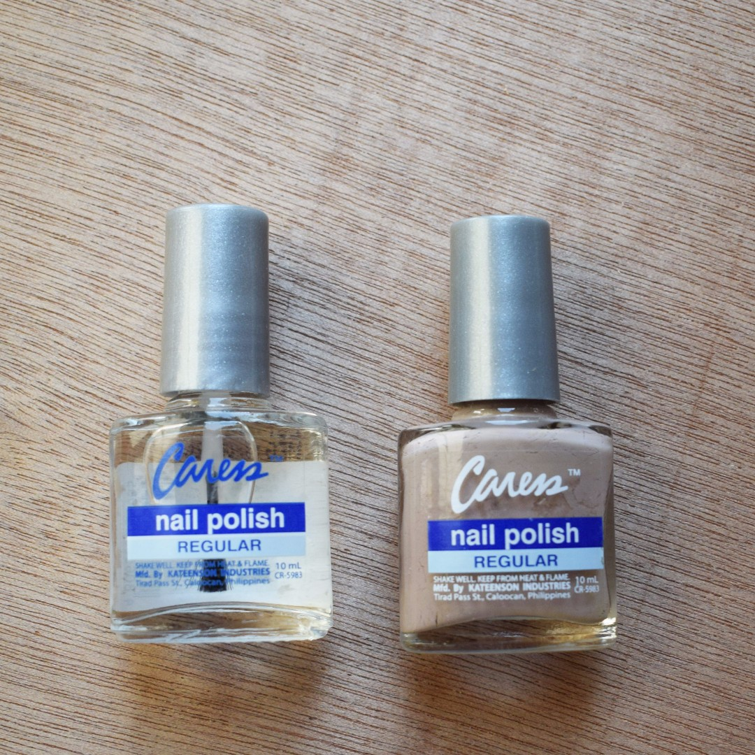 Caress Nail Polish Set Nude and Clear, Preloved Health & Beauty ...