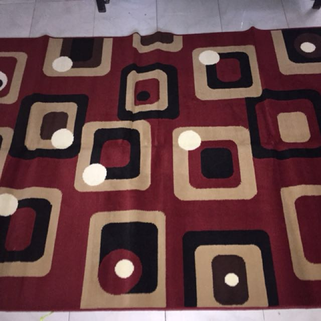 carpet for sale :) christmas is coming make your home looks more cozy and feel the spirit of christmas with this colourful carpet. we have more design for you. feel free to pm for the price and design. ! free delivery designated area only. thank u
