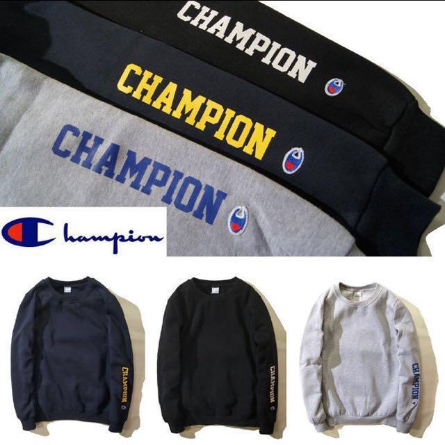 Champion hoodie 大學t