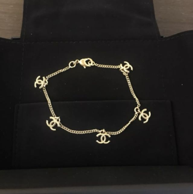 Chanel Gold CC Bracelet
