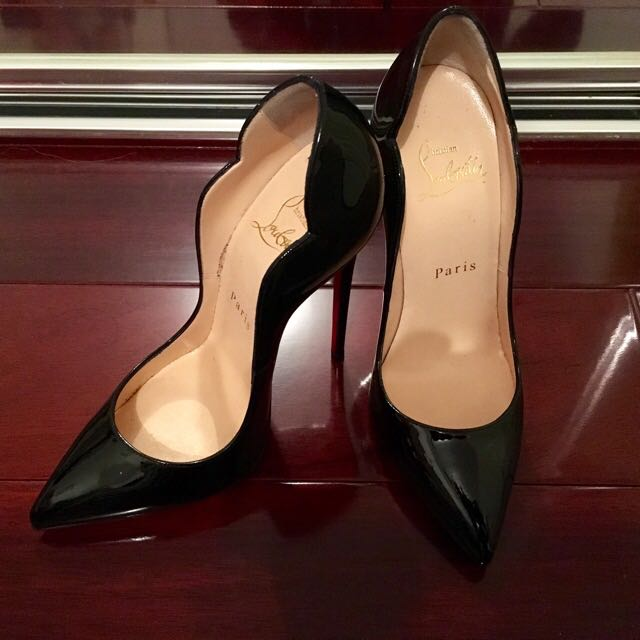 """Christian Louboutin """"Hot Chick 130 Patent"""" heels a8efca0fdc30"""