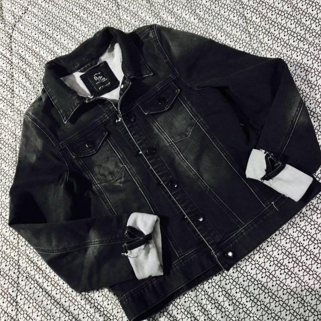 COTTON ON black denim jacket