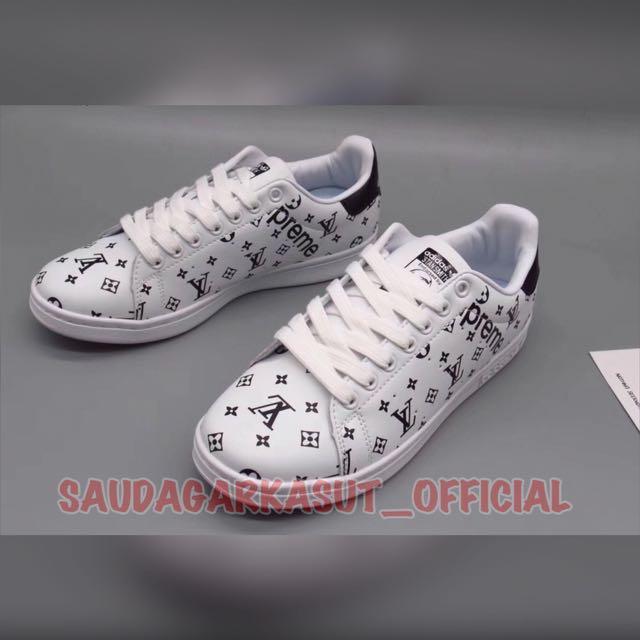 Custom Adidas Stan Smith - Supreme x LV (premium 1:1), Women's Fashion, Shoes on Carousell