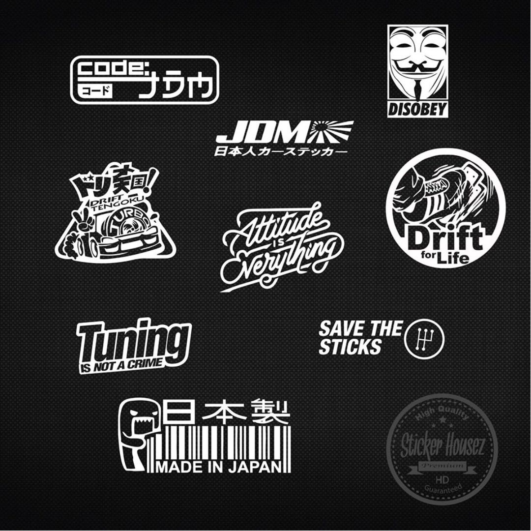 Sticker Logo In Cars
