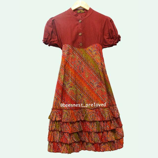 Dress Batik Merah LUWES