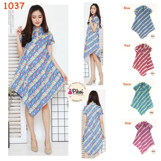 Dress Lancip / Batik Modern / Dress Batik murah / dress flare batik / dress kembang / 1037