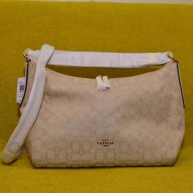 EAST/WEST CELESTE CONVERTIBLE HOBO IN OUTLINE SIGNATURE COACH F58284