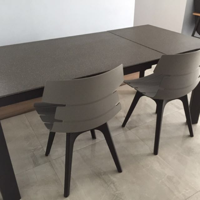 Expandable Stone Look Glass Dining Table Furniture Tables Chairs - Looking for dining table and chairs