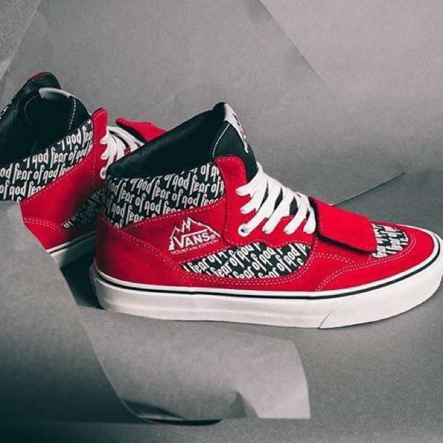 30db28ecb332 FEAR OF GOD x VANS Mountain Edition 35 DX   red print   US8