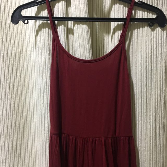 Fitted Red / burgundy dress
