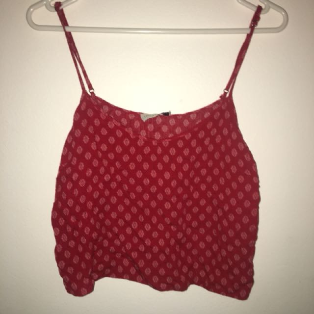 a7ec197a6d6 Flowy, Red crop top, Women's Fashion, Clothes on Carousell