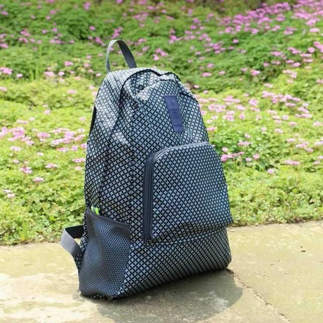 Foldable Bagpack printed (star blue)