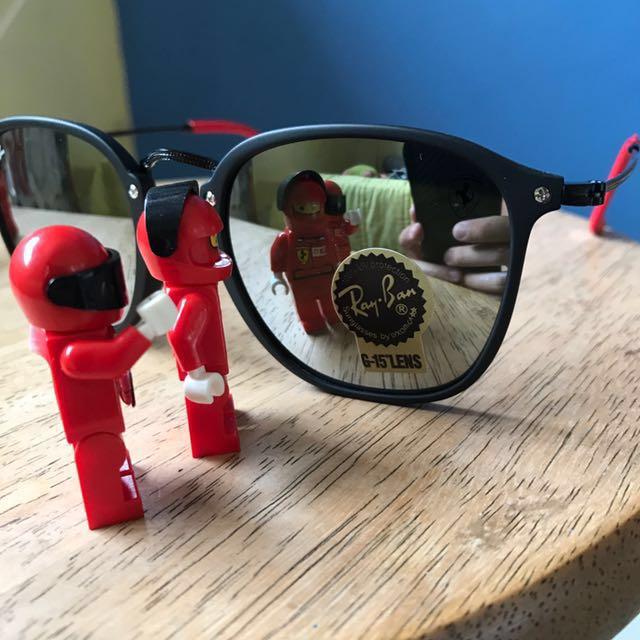 636b5ad852  FREE MAILING  Rayban RB 2448 FERRARI Metal Sunglasses