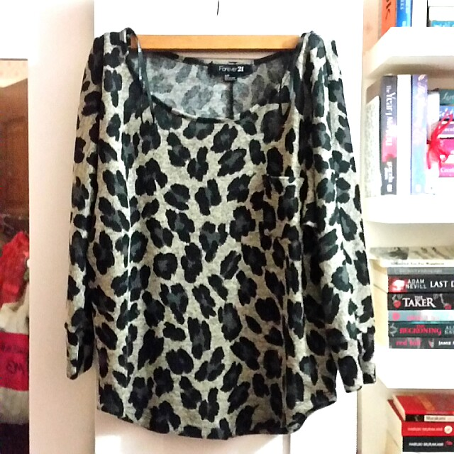 [FREE POS SM] FOREVER 21 LEOPARD TOP