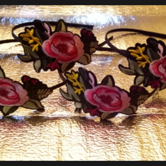 12856c150f6 Gucci inspired embroided floral headband