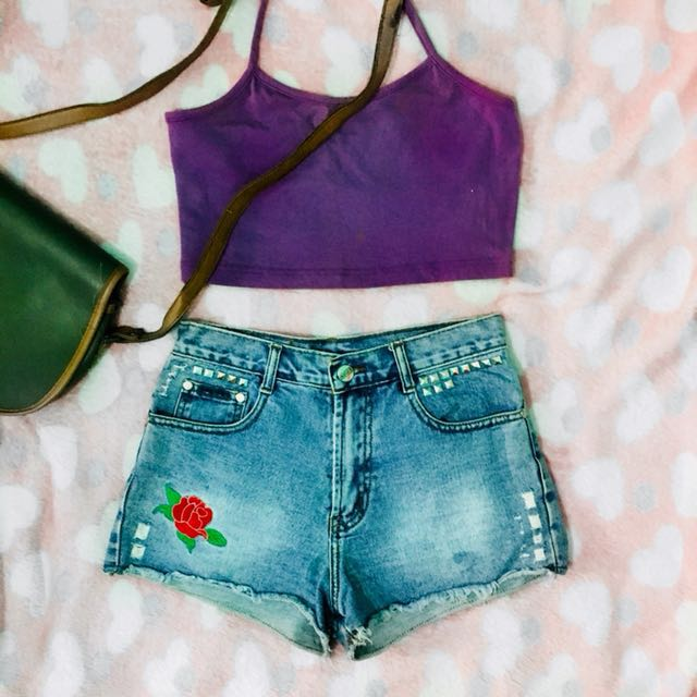 Halter Crop Top in Purple