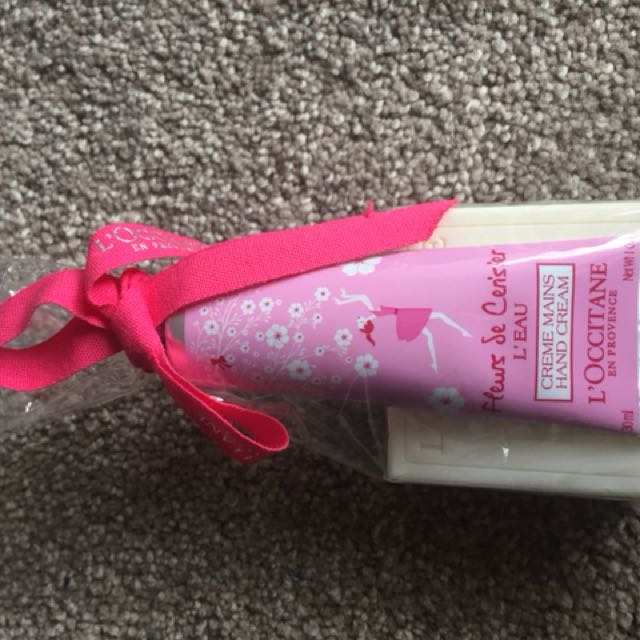 Hand cream and soap gift