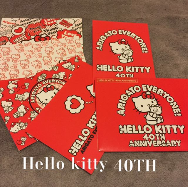 Hello kitty 40th明信片五張組#凱蒂貓