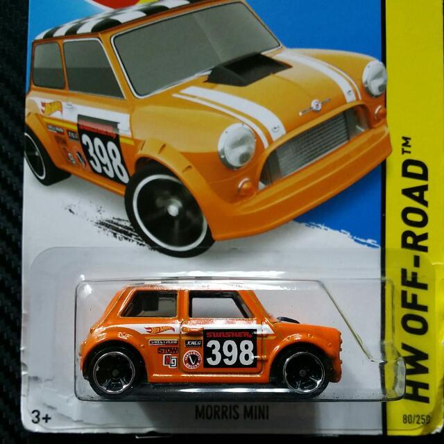 Hot Wheels Morris Mini Cooper Off Road Rally 2015 Orange Toys