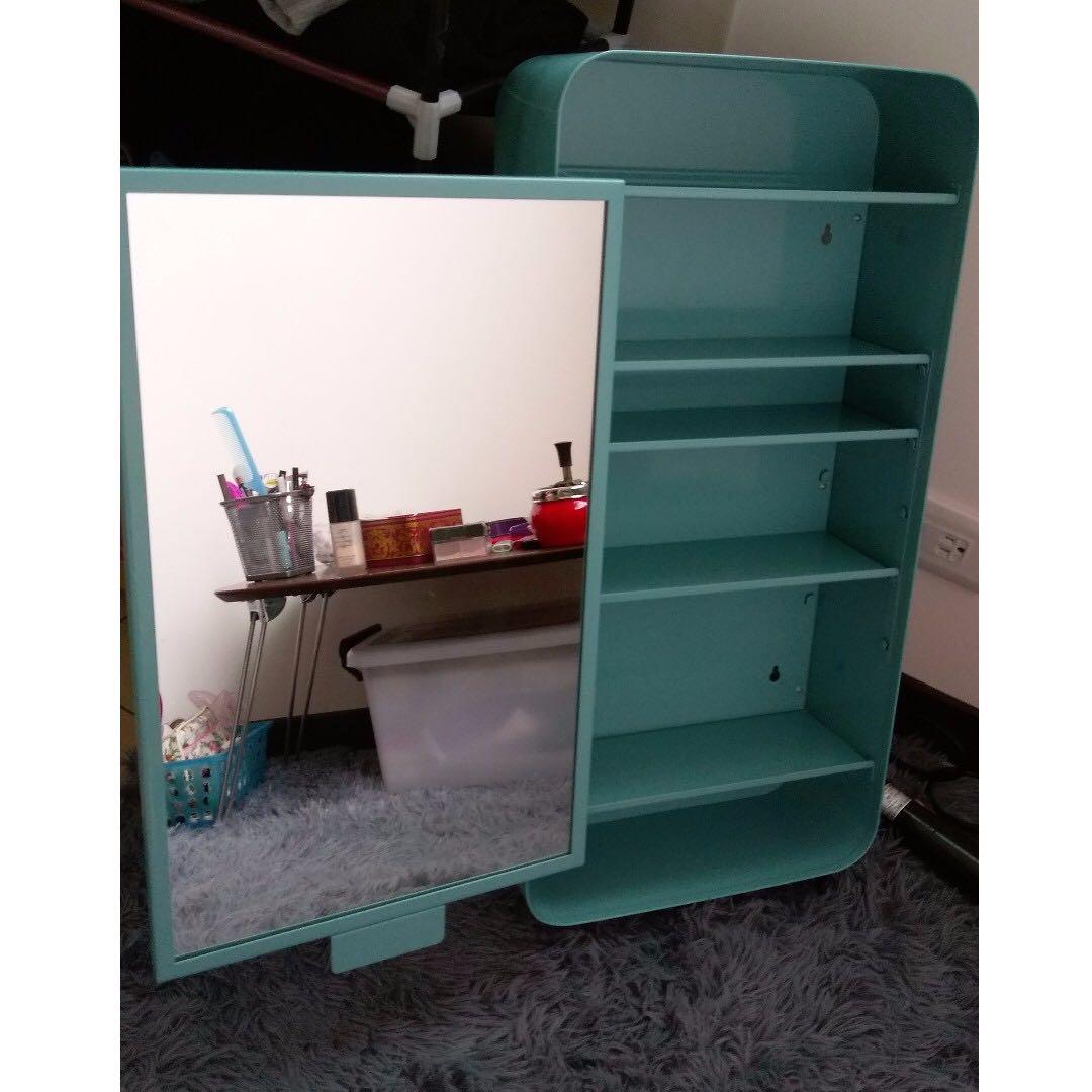 IKEA 浴廁收納置物架附左開鏡面