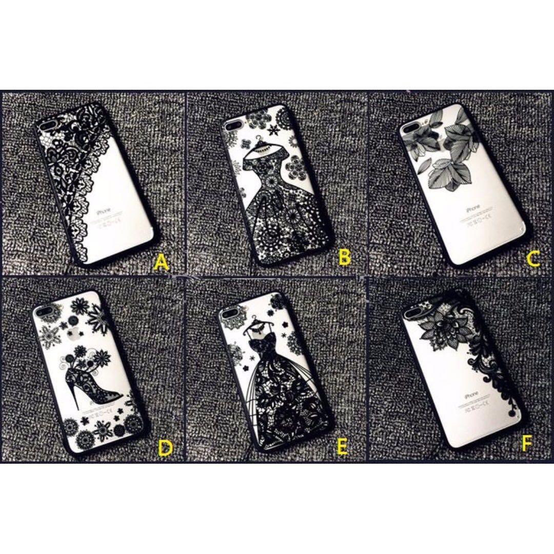 蕾絲iphone6/6s/7手機殼霧面硬殼六款 送掛繩