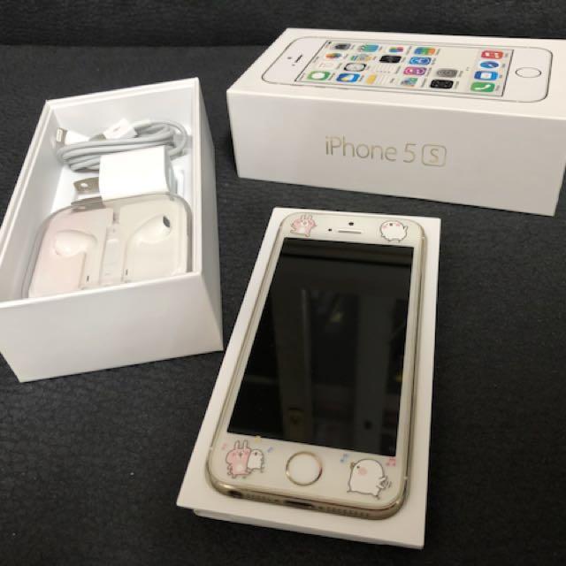 📱二手iPhone 5s金色16G