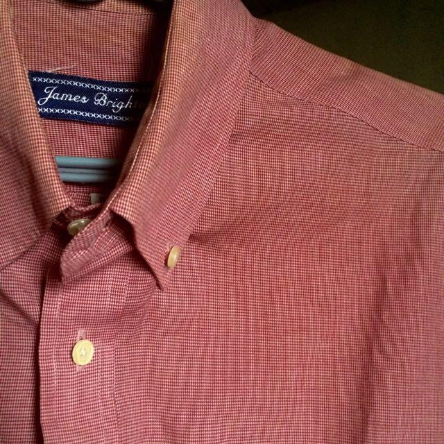 James Brighton Red Flanel Polo Shirt