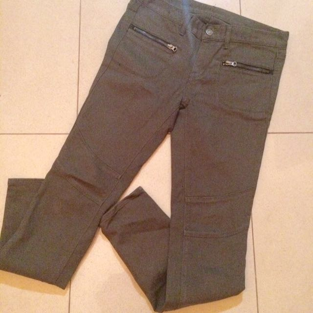 jeans hijau army look a like cotton on hnm
