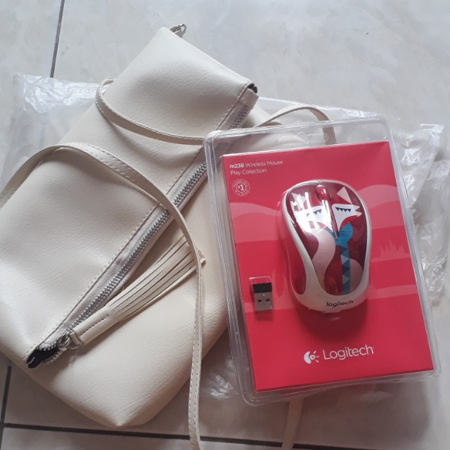 Jual 2 item(wireless mouse dan mini white bag)