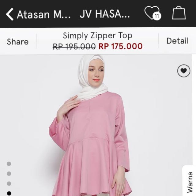 JV Hasanah simply zipper top (from zalora)