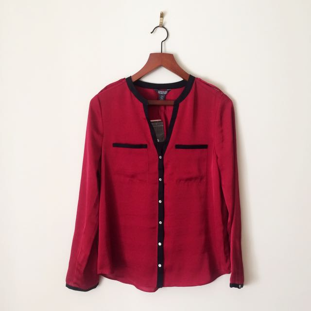 Kenneth Cole Red Blouse