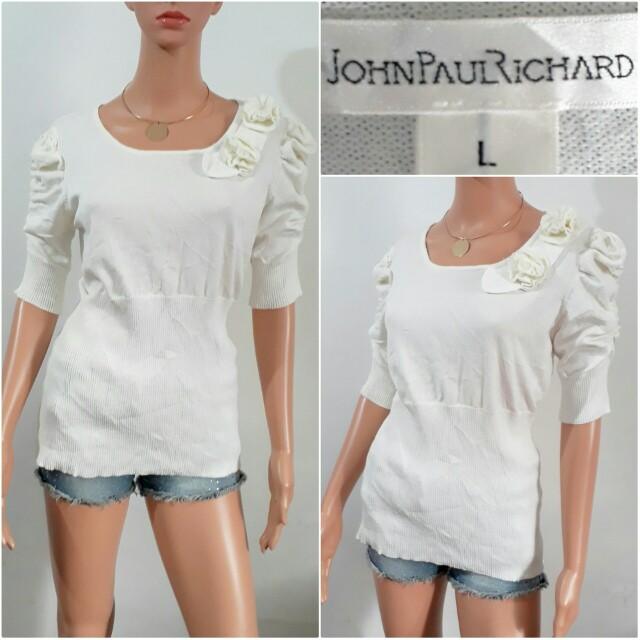 (L) John Paul Richard knitted top