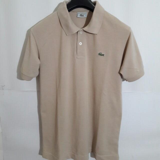 Lacoste Polo Shirt Coklat Krem