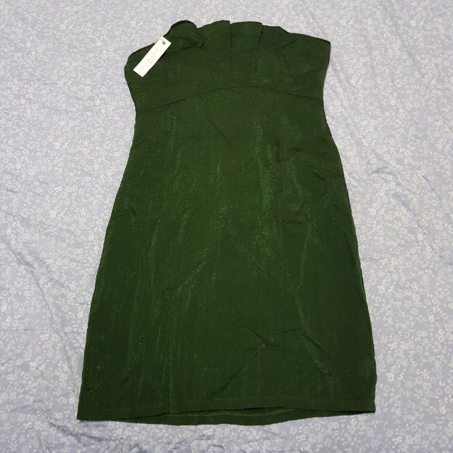 Loalde green tube casual or formal short dress