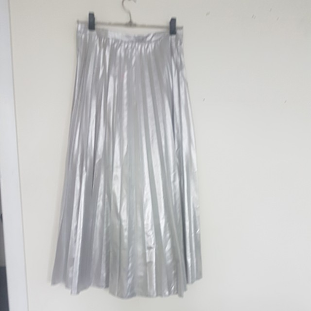 Long metallic pleated skirt Dotti