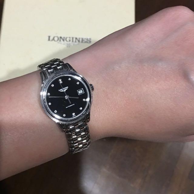 d0af318e8eb Longines Flagship Black Dial Diamond Ladies Watch L42744576