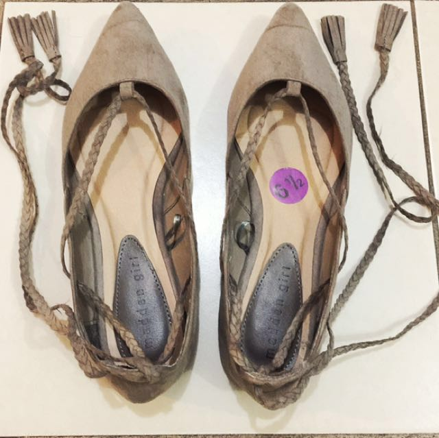 Madden Girl lace-up flats
