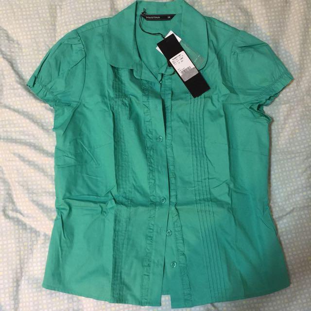 Mastina 綠色 短袖襯衫 全新吊牌未拆