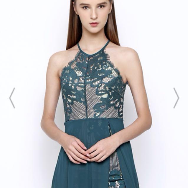Maxi dress, green colour size S (Chocochips brand) dijual karena udah size S tp masih kegedean