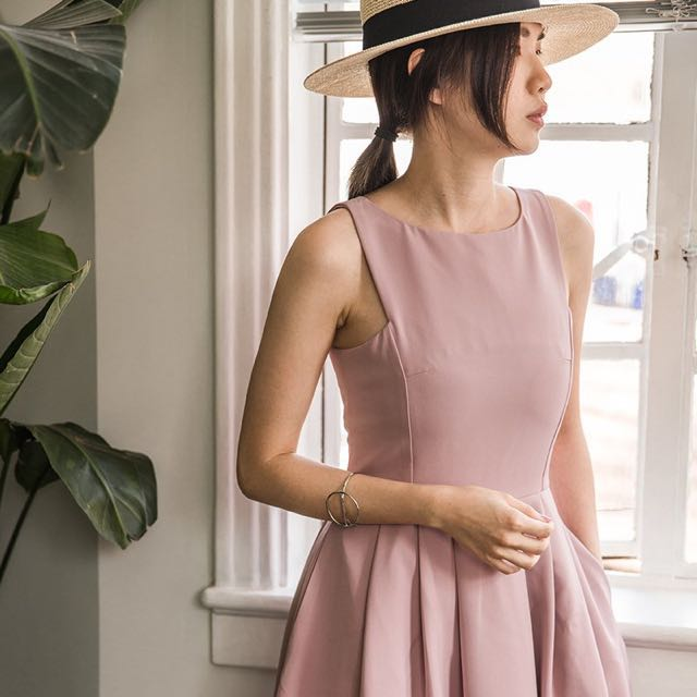 Mercci22 優雅蓬裙洋裝M號 粉紫 漢娜妞 #手滑買太多