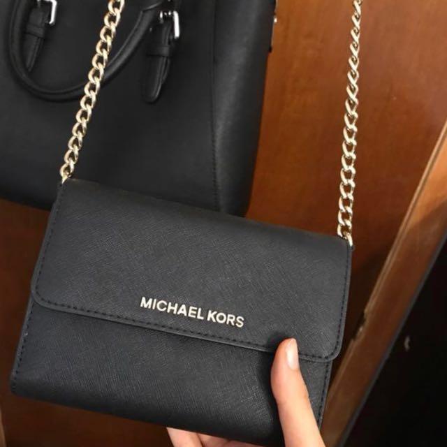 Michael Kors crossbody purse - black and gold