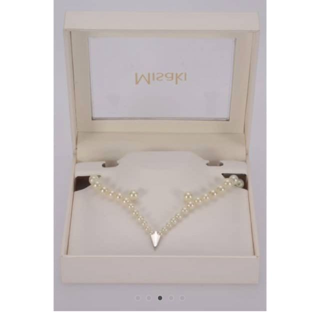 "MISAKI Monaco Set ""Veneto"" Pearl Necklace with Pearl Earrings X-treme Lustre Pearls"