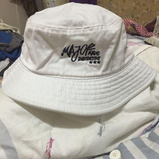 (降)MJR Major Made全白make up your mind漁夫帽